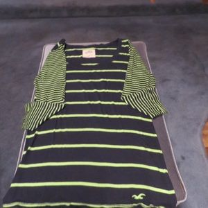 Hollister woman's blue/green stripe long sleeve